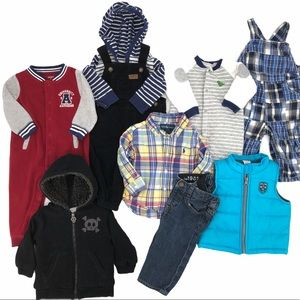 Baby Boy Size 6-9 Months Winter Clothing Lot EUC